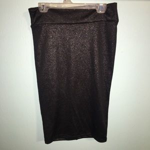Black Sparkly Skirt